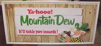 1965 or 66 Metal Stout Mountain Dew Hillbilly Sign